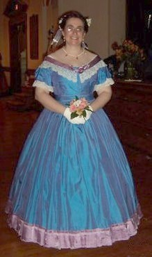1860s blue gown