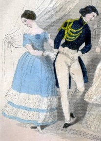 Polka Fashion, 1845, Godey's Ladies Book