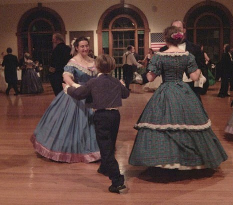 Hostess Katy Bishop Turns her son Nick in the Spanish dance